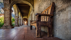 Bench With A Mission (emiliopasqualephotography) Tags: sanjuancapistrano mission woodenbench bench california sandiego