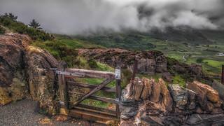 Rain or shine.....my gate to paradise. Ogwen valley .Snowdonia .