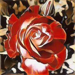 Rose Batik (GeminEye27) Tags: rose texture topazsimplify topazclean paintbrush