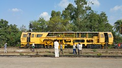 On Duty at Patiala (naveensharma) Tags: plasser trackmachines patiala india indianrailways yellow landscapes railfans