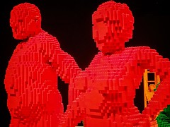 Closeup of Everlasting by Lego artist Nathan Sawaya (mharrsch) Tags: everlasting couple male female people human lego sculpture art nathansawaya artofthebrick exhibit omsi oregonmuseumscienceandindustry oregon mharrsch