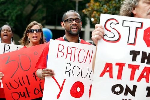 AHF Baton Rouge Protest