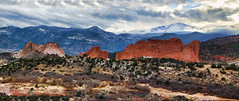 Storm clouds over Pikes Peak, Colorado Springs, Colorado (Gail K E) Tags: pikespeak fourteener colorado coloradosprings frontrange rockymountains usa gardenofthegods sandstone geology