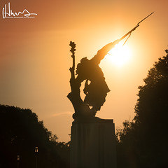 The fallen soldier... (v.Haramustek) Tags: fallen soldier statue osijek croatia croatiafulloflife slavonija sundown sun shadow