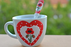 My new collection (misi212) Tags: coffe cup poppy flowers same spoon