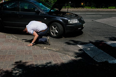 Breakdown (Ktoine) Tags: car problem vehicle candid shirt street kiev ukraine contrast