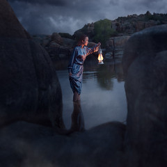 Chasing Light (Ryan Closson) Tags: arizona asian bluehour girl glo lamp lantern mystery night pirate prescott pretty searching spooky unitedstates usa vintage wonder