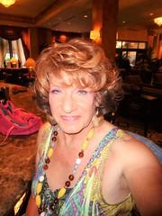 Just A Woman Out-and-About (Laurette Victoria) Tags: dress auburn necklace woman laurette milwaukee pfisterhotel