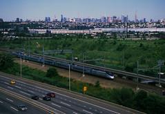 NY Skyline 331 (stevensiegel260) Tags: newjerseymeadowlands newyorkskyline manhattanskyline amtrak train railroad newjerseyturnpike