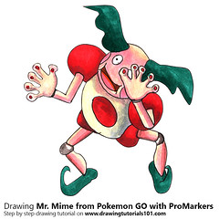Mr. Mime from Pokemon GO with ProMarkers [Speed Drawing] (drawingtutorials101.com) Tags: mr mime pokemon go pokémon video games augmented niantic dennis hwang junichi masuda promarkers promarker alcohol markers marker color colors coloring draw drawing drawings how timelapse time