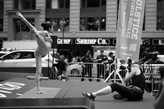 A Photographer and Yoga (KOGH65) Tags: new york photography photographer photo travel art 2017 nyc ny street leica m city outdoor life people depth field reportage young kogh candid camera focus pov picture 50mm image manhattan artist kogh65 timessquare blackandwhite internationalyogaday balance sports yoga