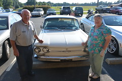 Classic Cars Corvair Club Hoyt's Restaurant Lexington, NC Motorcycle Harley Davidson 1994 Heritage Softail 20170710_4282 (Shane's Flying Disc Show) Tags: classiccars corvairclub davidson nc lexinton unsafeatanyspeed daredevils