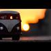 Mini Volkswagen Bus In Sunset Sky