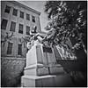 Fotografía Estenopeica (Pinhole Photography) (Black and White Fine Art) Tags: aristaedu400 pinhole6214x214 pinhole03mm niksilverefexpro2 lightroom3 camaraestenopeica pinholephotography esteno pinhole estatua statue sanjuan oldsanjuan viejosanjuan puertorico streetphotography fotografiacallejera bn bw