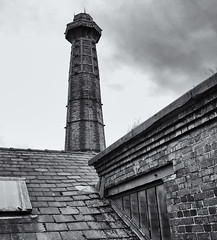 Victorian architecture (Tim Ravenscroft) Tags: chimney roof victorian historic industrial monochrome blackandwhite blackwhite hasselblad hasselbladx1d x1d ellesmereport england