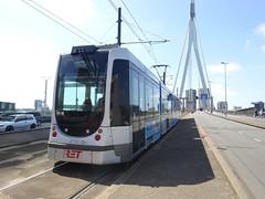 Rotterdam: RET Tram 2112 (harry_nl) Tags: netherlands nederland 2017 rotterdam ret tram 2112 alstom citadis erasmusbrug