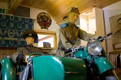 Igor museo, green motorcycle (visitsouthcoastfinland) Tags: visitsouthcoastfinland degerby igor museum museo finland suomi travel history indoor motorcycle
