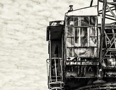 Operator's Cab--Shipyard Crane (PAJ880) Tags: operators can sipyard crane heavy vintage bw mono bns charlestown navy yard boston ma