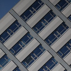 Hastings (No Great Hurry) Tags: pattern seafront constructuralart architectureontheslant facade brutalist modernist midcentury robinmauricebarr nogreathurry sussex architecture officebuilding hastings lookup lookingup