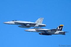 Super Hornets (J Saari) Tags: a900 helsinki finland aviation airshow kaivopuistoairshow aeroplane military navy superhornet 168493 168907 boeing fa18e fa18f usnavy cvw7 vfa103 vfa143 jollyrogers pukindogs