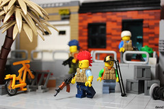 Destroy with happiness (second crew) (Devid VII) Tags: devid vii detail lego moc military crew post apoc war happiness minifig minifigs minifigures diorama details weapon weapons happy smile scene second devidvii