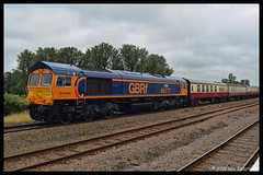 No 66777 Annette 28th June 2017 Ely (Ian Sharman 1963) Tags: no 66777 annette 28th june 2017 ely class 66 shed diesel station engine railway rail railways railfreight train trains loco locomotive passenger london kings cross peterborough 1z59 gbrf great british waml west anglia anglian mainline charter
