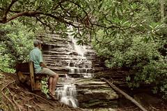 Checking Out Panther Falls.jpg (Chatterstone Photography) Tags: water rabun selfportrait selfie pantherfalls joecreek waterfall grant