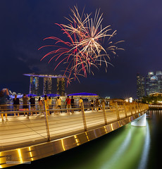 Fireworks Season 2017 (syphrix photography) Tags: syphrix singapore national day celebration 2017 fireworks season south east asia marina bay sands jubilee bridge pyrotechnic rehearsal travel canon long exposure display river cityscape city famous ndp waterfront
