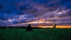 Fantasy-2 (SylvainB_) Tags: people posing pose photography cosplay forest nature colors personnes paysage landscape médiéval cape cloak crépuscule twilight fantasy cloud nuage chateau castle