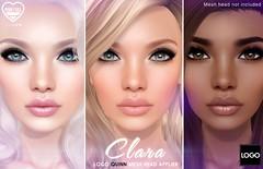 [PF] Clara Skin for LOGO Quinn Bento Mesh Head (Mochi Milena) Tags: logo pink fuel skin mesh head bento