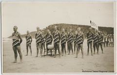 Byron Bay March Past team, winners 1939 (RTRL) Tags: byronbay surflifesaving surfclub surflifesavingcarnival