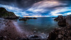Big Skies (Augmented Reality Images (Getty Contributor)) Tags: canon cliffs clouds colours dusk landscape leefilters longexposure morayfirth portknockie rocks scotland sunset water waves
