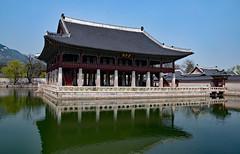 Seoul, Korea - the Gyeongbokgung Palace (mistca) Tags: gyeongbokgung palace seoul korea architecture building water reflection
