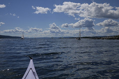 Monday Blues (Päivi ♪♫) Tags: norway oslo oslofjord blue sea kayak paddling sun day july sailingboat