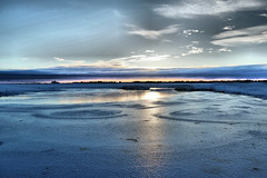 Hellisholar Frozen Lake - Iceland (navjotsinghnijran) Tags: iceland hellisholar sunset lake frozen frozenlake ripples water ice view incredible clouds sun snow
