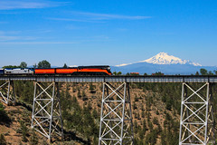 SP #4449, Mt.Hood, Madres Trestle (ScholzRUNNER) Tags: sp southernpacific southernpacificrailroad espee 4449 sp4449 daylight spdaylight 484 northern landscape railroad railroadphotography excursion trains trainchase tracks