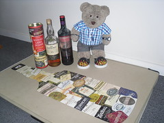 Drinkies! (pefkosmad) Tags: jigsaw puzzle leisure hobby pastime complete 500pieces used secondhand scotch whisky bottles shaped pasttimes whiskylabeljigsaw tedricstudmuffin teddy bear ted cute soft stuffed toy animal fluffy plush