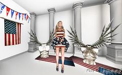 Glory Days - 4th of July (Poppys_Second_Life) Tags: wings angels warrior naturism patriot patriotism glorydays popi popikone popikonesadventuresin2l popisadventuresin2l 2l secondlife virtualphotography poppy picsbyⓟⓞⓟⓟⓨ sl stars stripes flag usa starspangledbanner america independenceday july4th celebration celebrating