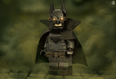 Batman Gotham by Gaslight (Jezbags) Tags: lego legos toys toy minifigure minifigures macro macrophotography macrodreams macrolego canon60d canon 60d 100mm closeup upclose batman gotham gaslight gas smoke chemical comic mask bat dc dclego legodc misty