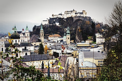 Winter in Salzburg (John Maloney FSA) Tags: europe austria salzburg castle city architecture ngc