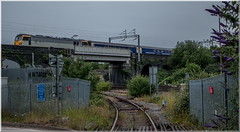 Suburban Sleeper (Terry 47401) Tags: 92044 class92 1m11 glasgow central london euston metro cammell level crossing diverted birmingham aston stechford line sunrise