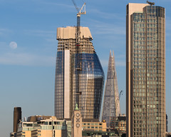 towers (Cosimo Matteini) Tags: cosimomatteini ep5 olympus pen london architecture moon oxotower shard cityscape towers
