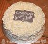 Rosette Graduation Cake