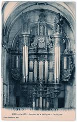 Aire-sur-la-Lys - Collegiate Church Organ (pepandtim) Tags: postcard old early nostalgia nostalgic aire sur la lys intéerieur collégiale les orgues organ collegiate church delebarre 57asl62