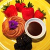 Churro Donut con accoutrements (26.3andBeyond) Tags: donut freshfruit churro breakfast food foodart
