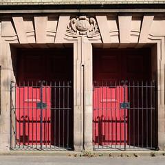 doors (disused) (bejem) Tags: doors doorways entrances gates church baptist tabernacle 1901 disused red