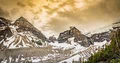 Plain of the Six Glaciers (tibchris) Tags: plainofthesixglaciers banffnationalpark banff alberta travel hiking glaciers rockies albertatravel landscape clouds mountains dreamy snapchris