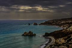 Petra tou Romiou (George Plakides) Tags: aphroditesrock petratouromiou cyprus legends myths sea sky clouds sunrays rock saracensrock