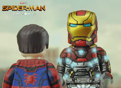 If you're nothing without this suit, then you shouldn't have it. (Brick Builder Watts) Tags: lego custom painted minifigures spider man iron mark 47 peter parker tony stark tom holland robert downey jr homecoming