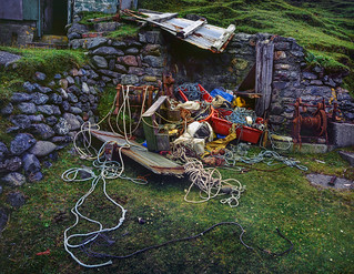 Fishing Hut Spill, Velvia 50 5x4 º